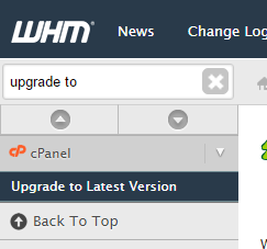 Upgrade cPanel