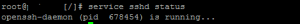 restart ssh service on linux server