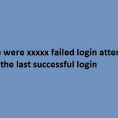 SSH failed login attempts