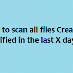 Scan Recently modified infected files