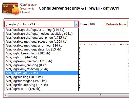 CSF watch system logs
