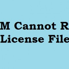 Cannot Read License File