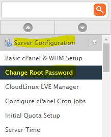 Change WHM root Password