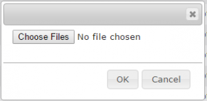 Choose Files to upload to Server