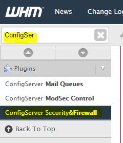 ConfigServer Firewall Plugin