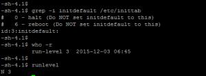 Current runlevel of Linux Unix server.