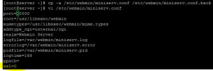 Disable SSL for webmin control panel