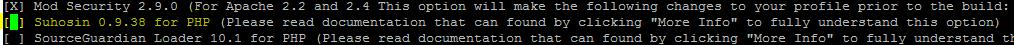 Install PHP Suhosin via Easyapache