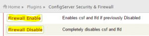 Enable and Disable CSF and LFD
