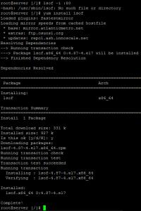 How to Install lsof command on CentOS RHEL 7 Linux Server