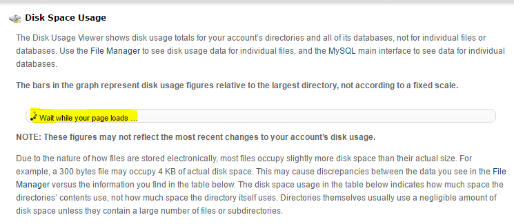 Incorrect disk usage in cPanel