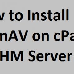 Install ClamAV cPanel server