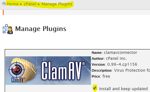 Install ClamAVconnector