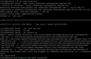 Install ConfigServer Mod Security