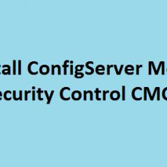 Install ConfigServer ModSecurity Control CMC