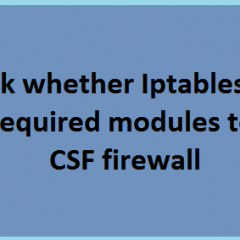 Iptables Modules Check