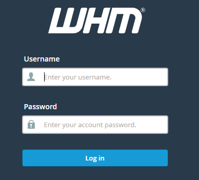 Login to WHM to Disable Roundcube webmail