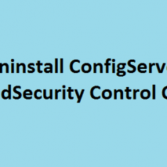 Uninstall ConfigServer ModSecurity Control CMC