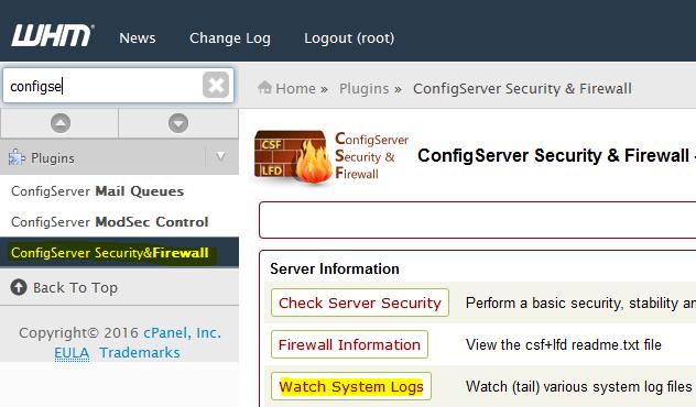 View Server logs