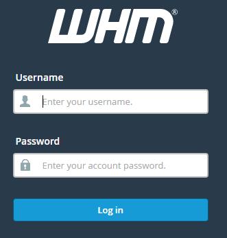 WHM login
