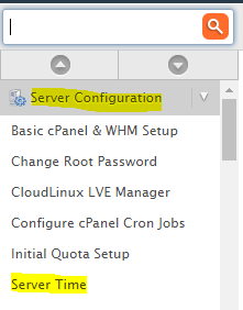 WHM server Time