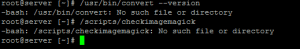 checkimagemagick No such file or directory