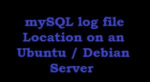 mySQL log file Location on an Ubuntu Debian Server