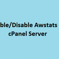 Enable disable awstats