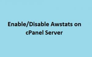 Enable disable awstats