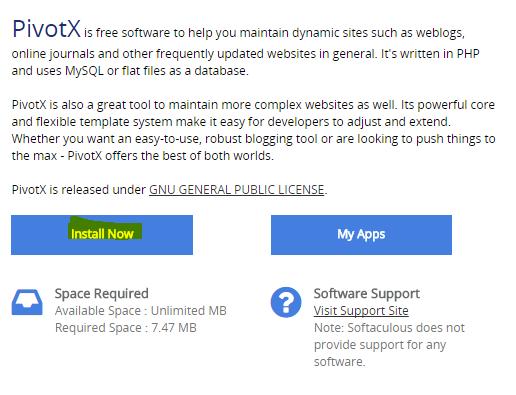 Install PivotX