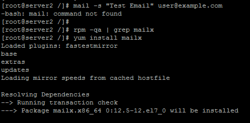 Install mail command