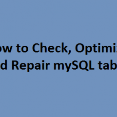 Repair mySQL tables