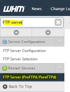 Restart FTP service