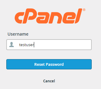 cpanel password reset