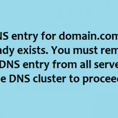 a-dns-entry-already-exists