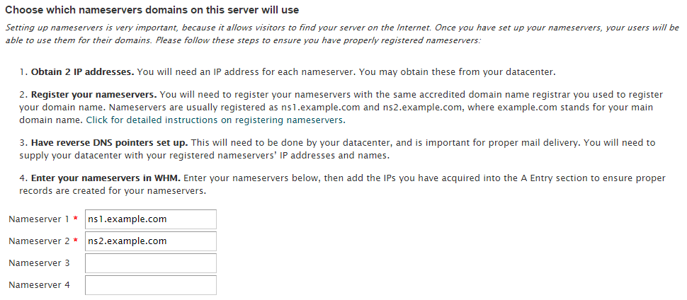 Domain nameservers