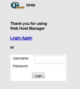 New default cpanel login theme