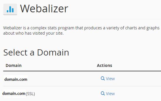 webalizer stats