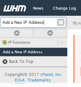 Add IP address cPanel