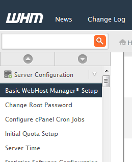 Basic Webhost Manager Setup