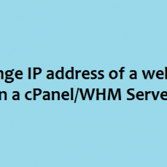 Change IP address cPanel Server