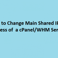Change main primary IP address WHM