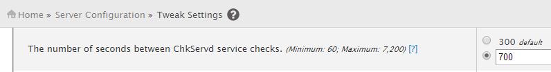 Chkservd service monitor