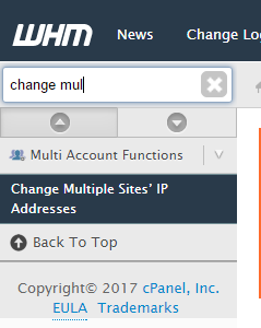 Move all websites to new IP address