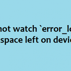 No space left on device