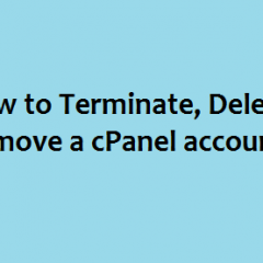 Terminate Delete cPanel Account