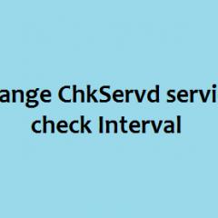 chkservd service check time