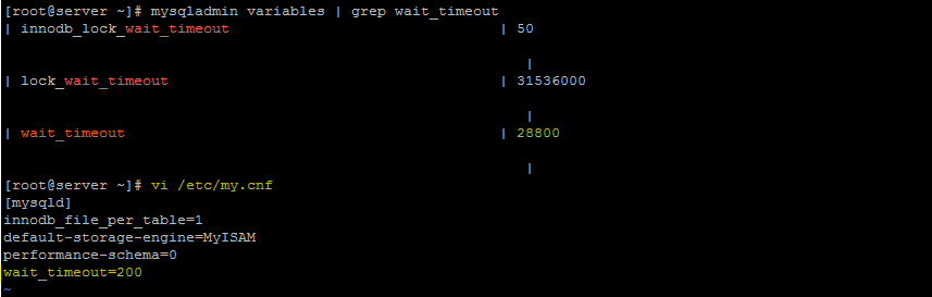 mySQL wait_timeout