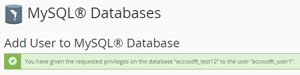 All privileges mySQL database