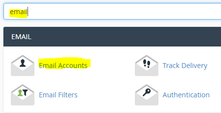 Create email account cPanel